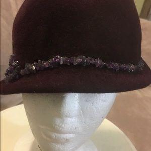 Burgundy vintage hand made hat